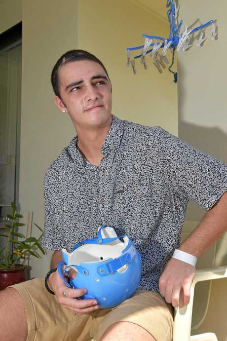 Crash victim Josh Harrison is back home after a long stay in hospital.