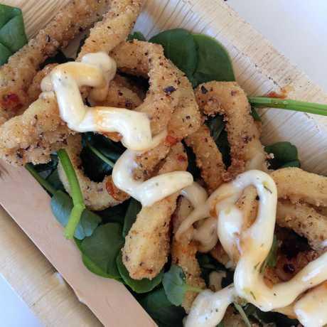 Spicy calamari, $10, at Eat the Street Lismore.
