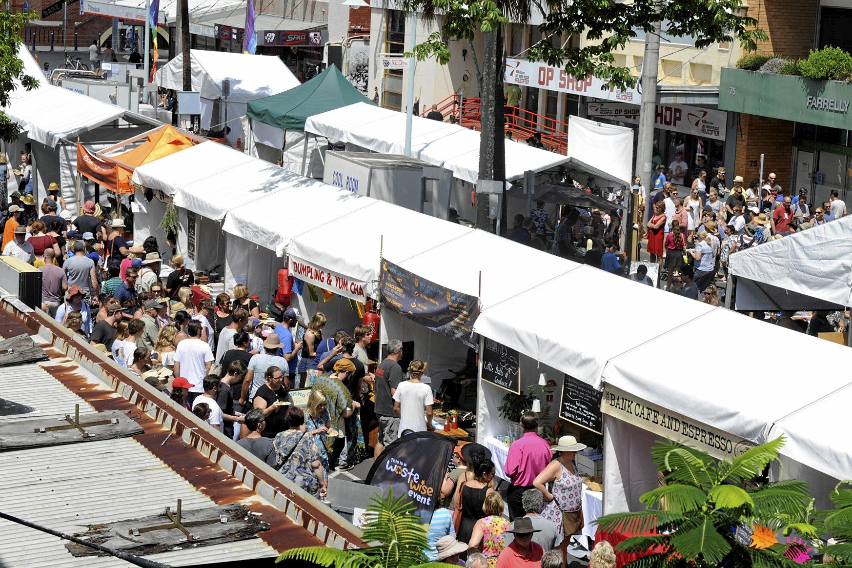 Big crowds at the Eat the Street Festival on Saturday.