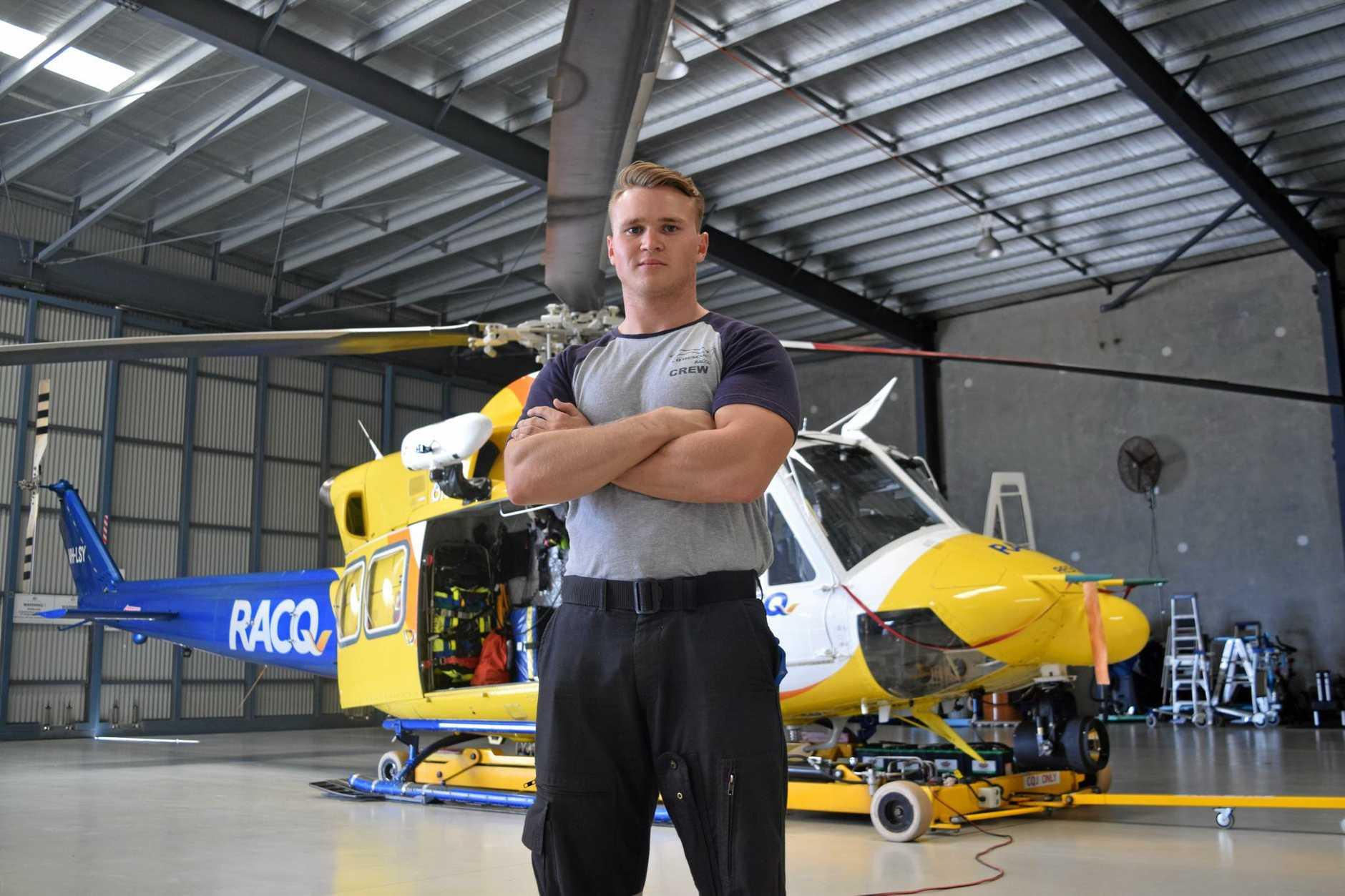 DREAM JOB: Callum Good, 21, always wanted to be a CQ Rescue crewman.