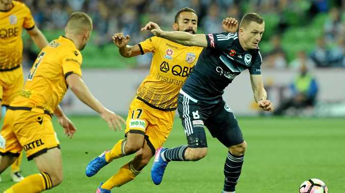 Besart Berisha (right) has scored 99 goals in the A-League.