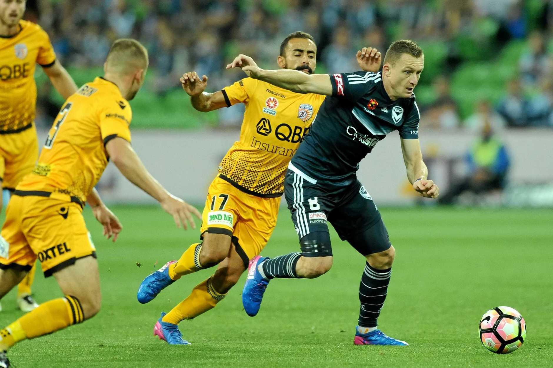 Besart Berisha (right) has scored 99 goals in the A-League.
