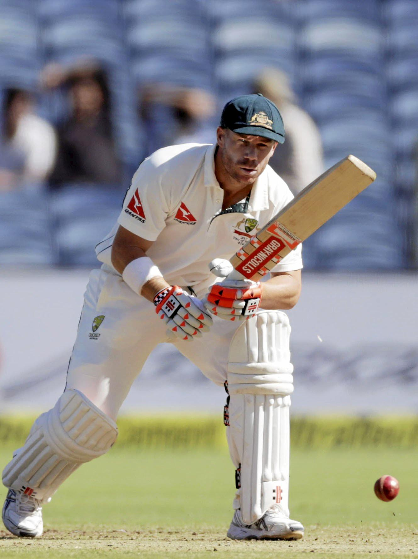 Australia's David Warner won't give verbals to India's players.