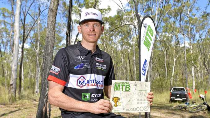 TOP RIDER: Gladstone's Michael England won the Elite category at the Central Queensland Cross Country Series held at Kirkwood on Sunday.
