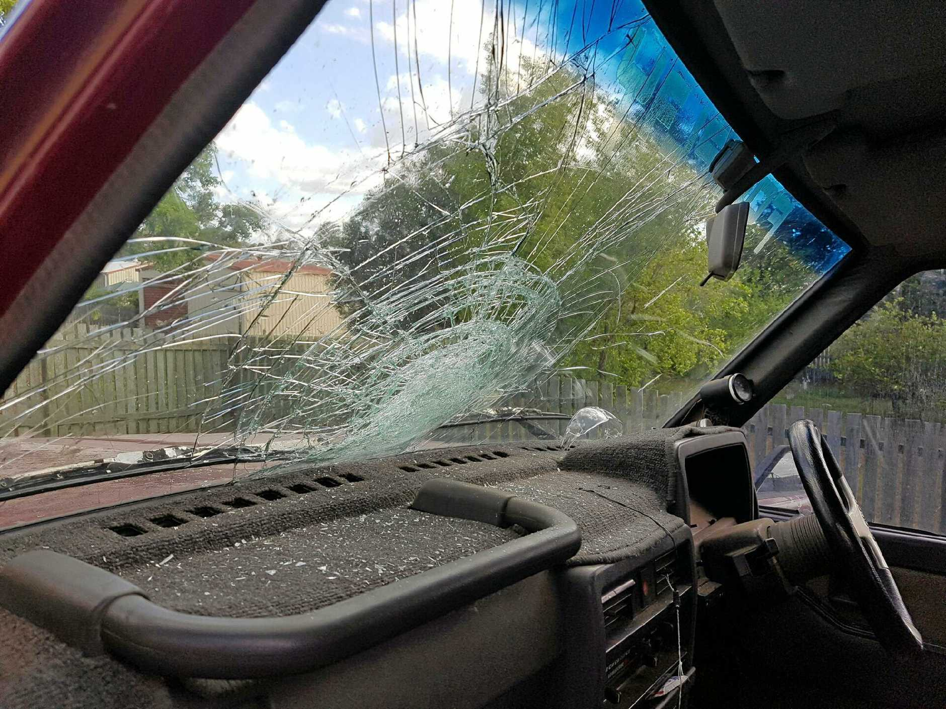 Grant Sommerfeld's said another driver threw a can of energy drink out of their window while driving.