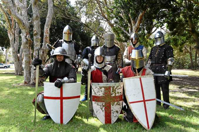 PAGEANTRY: Hervey Bay's Medieval Re-enactment Group will drop in on the good folks at Lower Wonga for their 90th birthday celebrations of the Lower Wonga Hall.