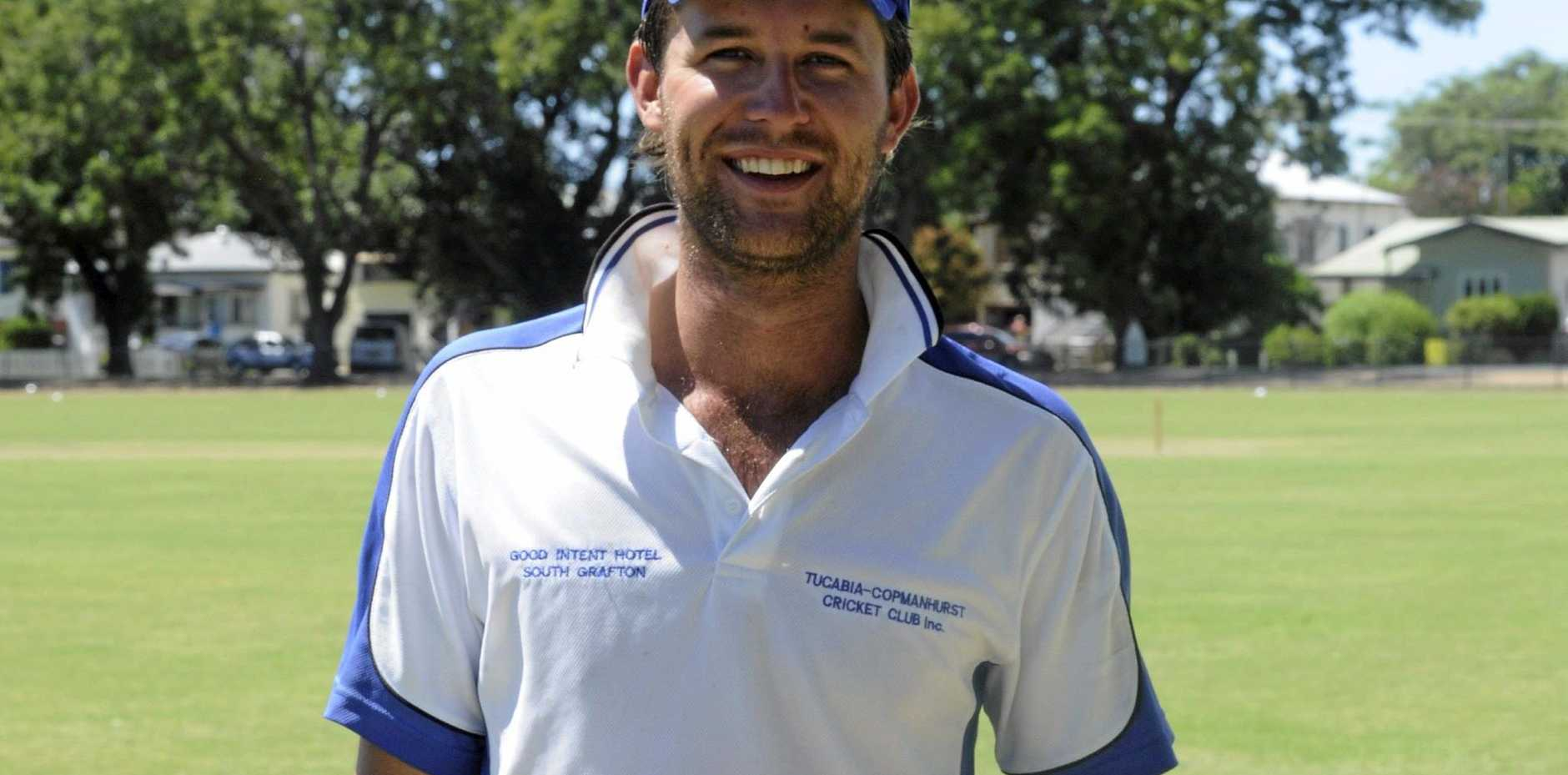ON FIRE: Tucabia-Copmanhurst captain Brad Chard after taking seven-wickets in the minor semi-final to defeat Coutts Crossing.