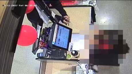 A female staff member was threatened while working at Goodna IGA.