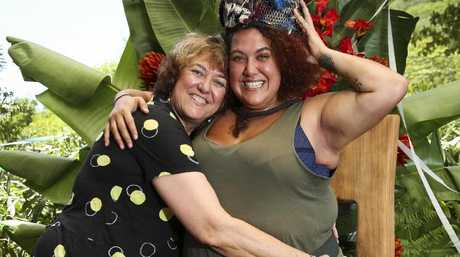I'm A Celebrity ... Get Me Out Of Here! winner Casey Donovan gets a celebratory hug from her mum Tracey Axford.