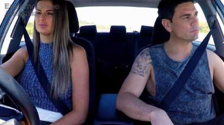 Cheryl and Andrew argue in the car during their Gold Coast home stay.