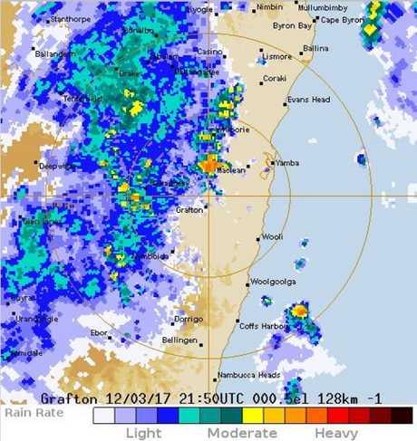 The Grafton radar loop as of this morning. Photo: Bureau of Meteorology.