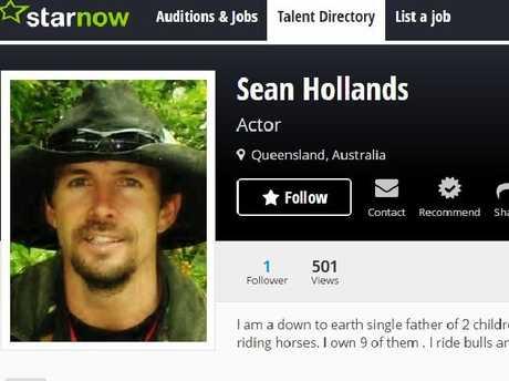 Sean's StarNow profile.