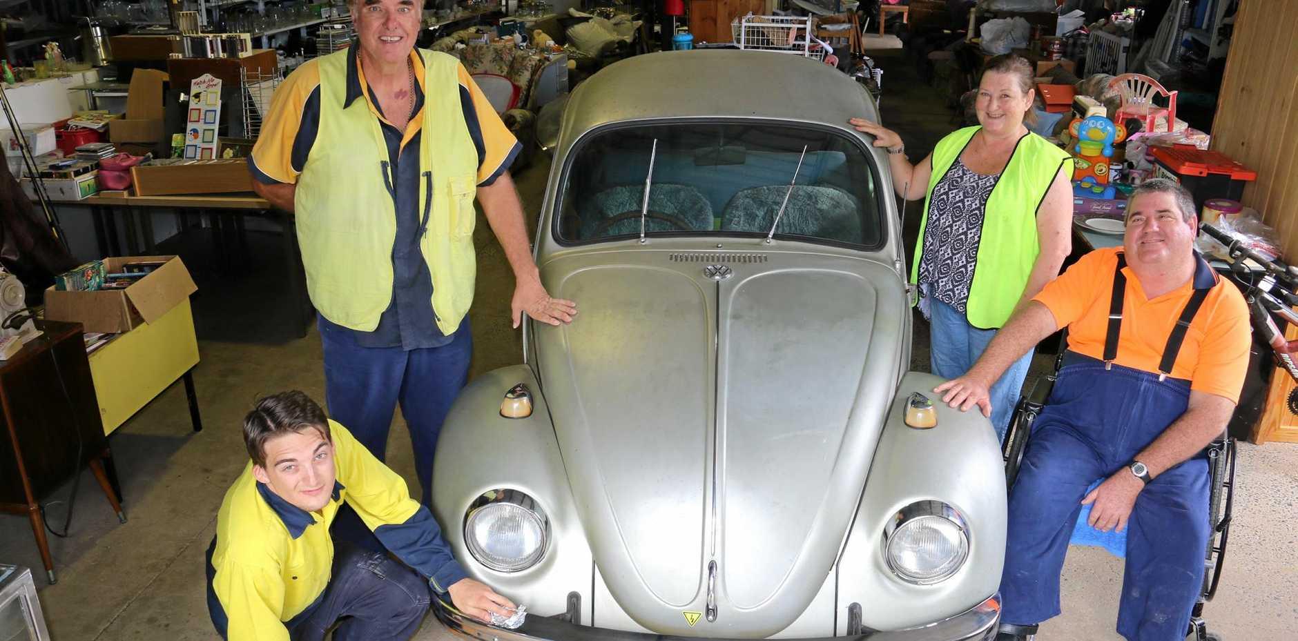 BEEP: The Anuha Tip Shop team with the 1967 Volkswagen Beetle.