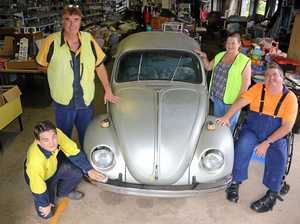 VW Beetle creates a big buzz at tip shop in Gatton