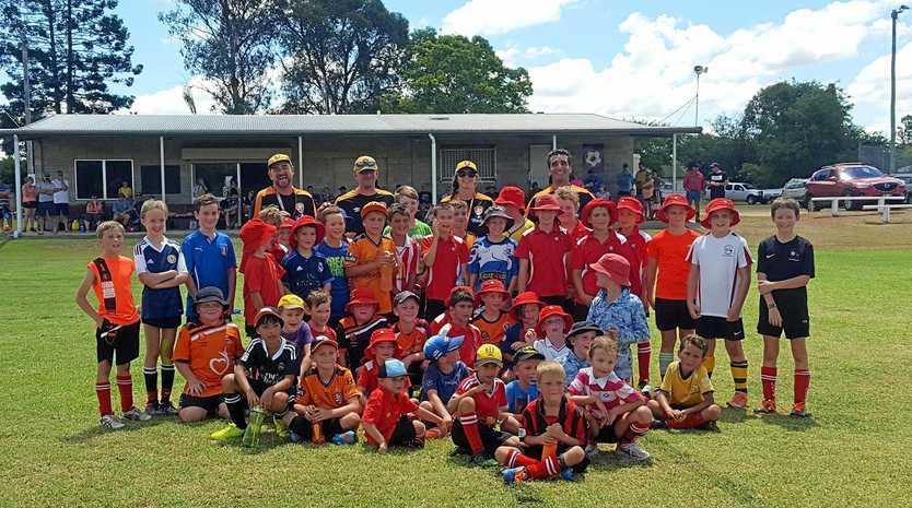 The Kingaroy Junior Soccer Club trained with Brisbane Roar coaches.