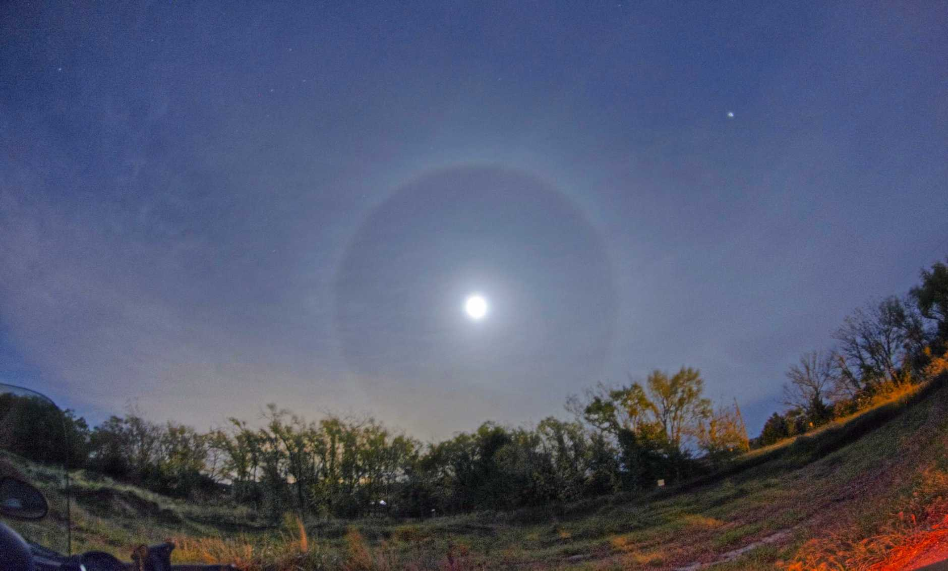 A ring around the moon is no old wives tale.