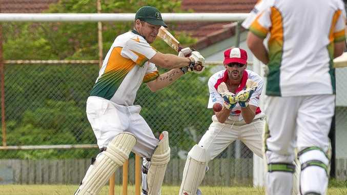 Batsmen Lucas Hall. A Grade Cricket between Yaralla and BITS at Yaralla. January 28, 2017
