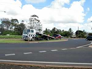 New car in crash at Turtle Roundabout