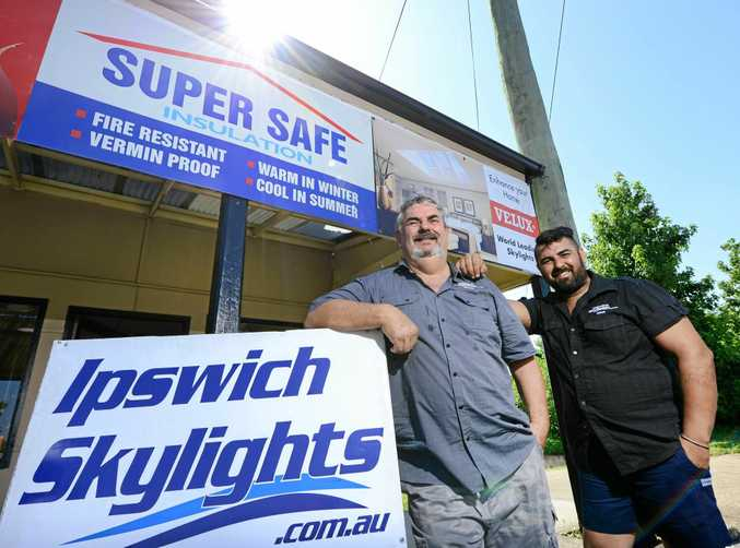 FAMILY BUSINESS: Brian (left) and Nick Scott of Ipswich Skylights.