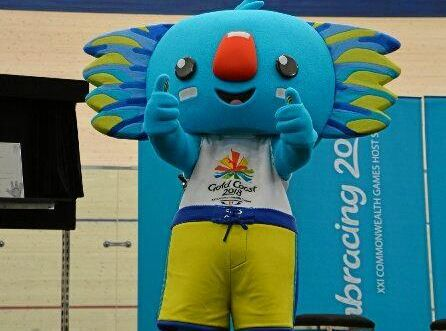 2018 Commonwealth Games mascot Borobi the surfing koala.