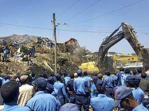 Garbage dump landslide kills 46