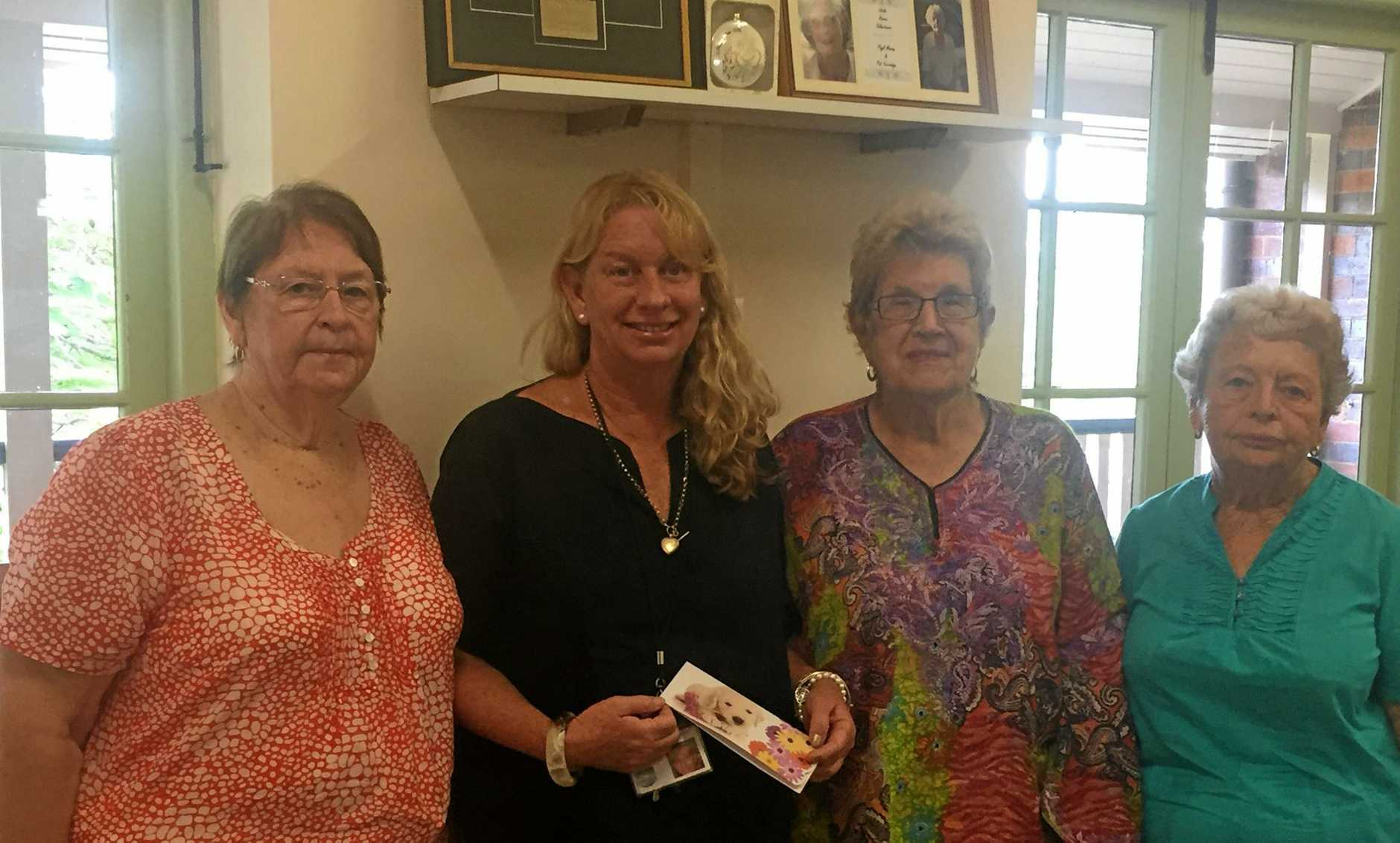 Haven Palliative Care manager Sue Manton (second left) with Happy Wrappers organiser Lola Cass (left), Glad Brennan and Glenyce Hartwig.