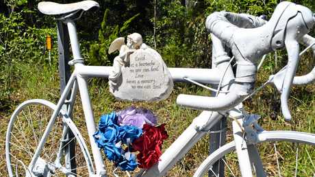 The Doonan memorial at the site where Mr Small was killed.