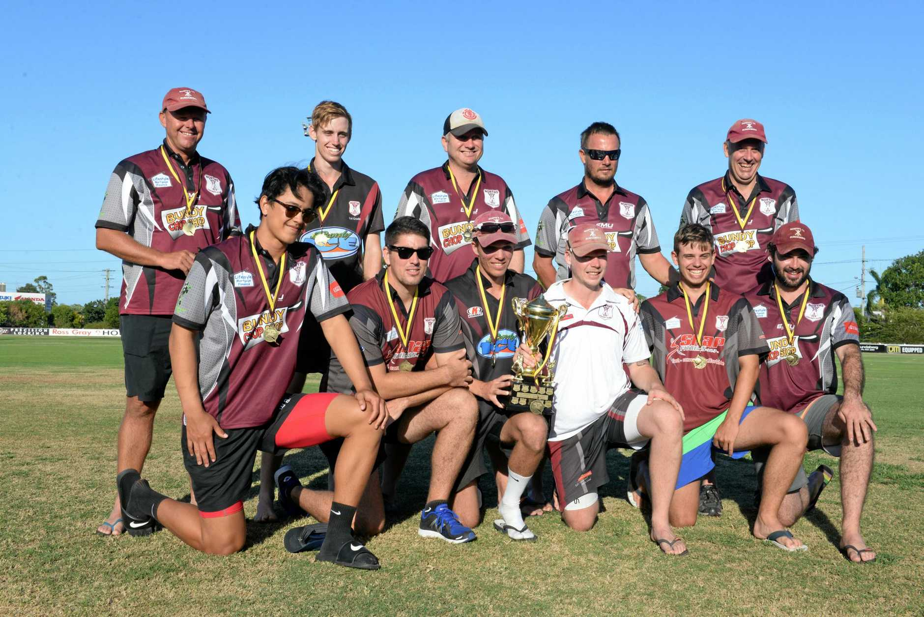WINNERS: The victorious Norths team in Division 1 after they defeated The Waves in the grand final