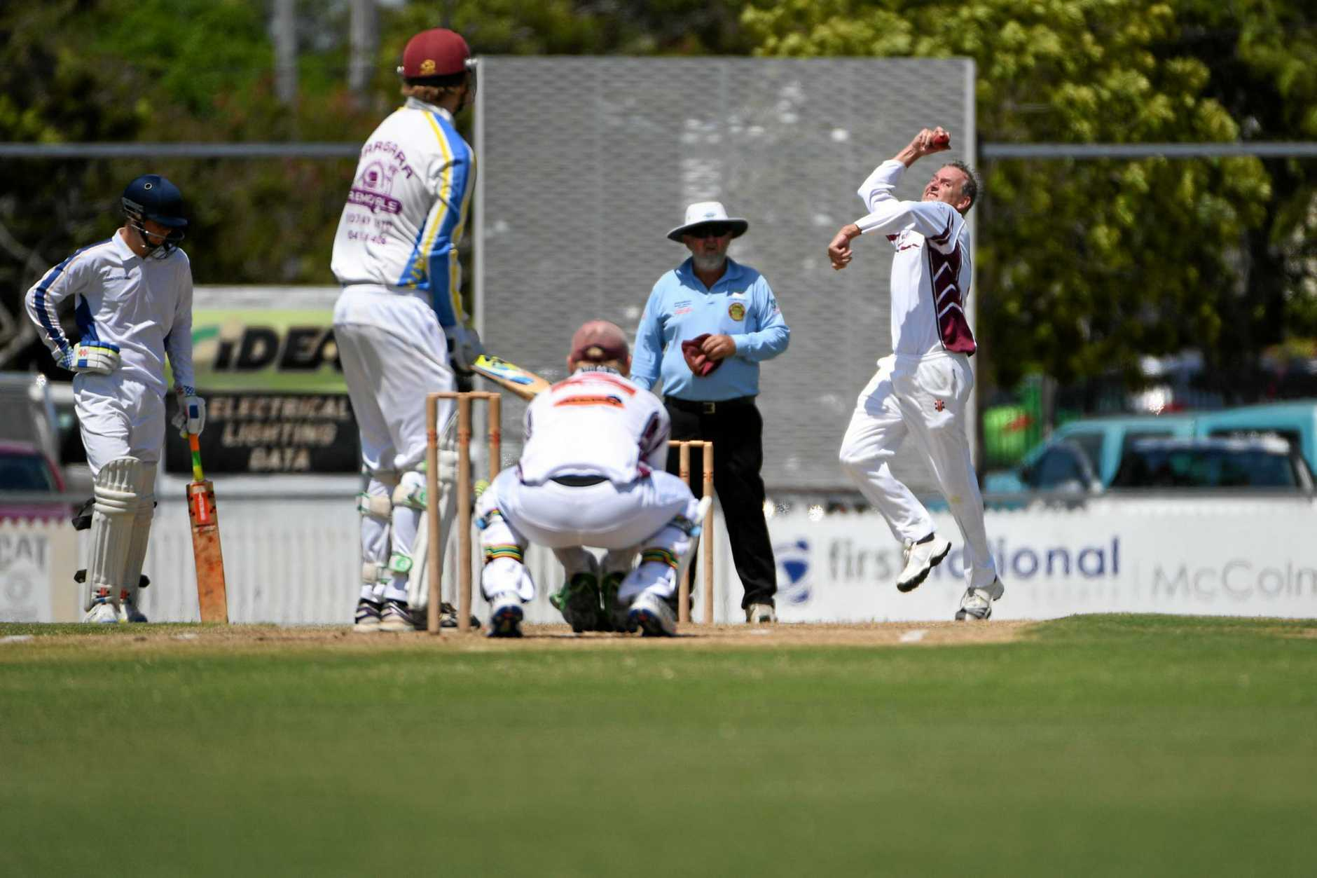 CRICKET GRAND FINAL: North's bowler Bruce Worthington at Salter Oval.