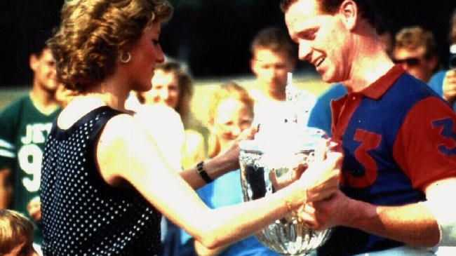 Diana, Princess of Wales presenting trophy to James Hewitt at polo match in the mid-nineties. Picture: SuppliedSource:News Corp Australia