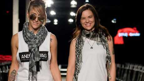Hannah Delaine and Cass Mackenzie of fashion label Androswag.