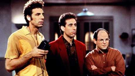 Michael Richards with Jerry Seinfeld and Jason Alexander.