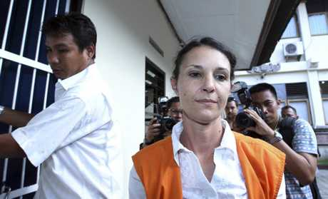 Australian national Sara Connor walks to a courtroom for her trial in Bali, Indonesia