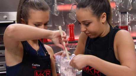 Have we seen the last of Caitie and Demi, pictured getting ready to pipe their raspberry cream sauce.