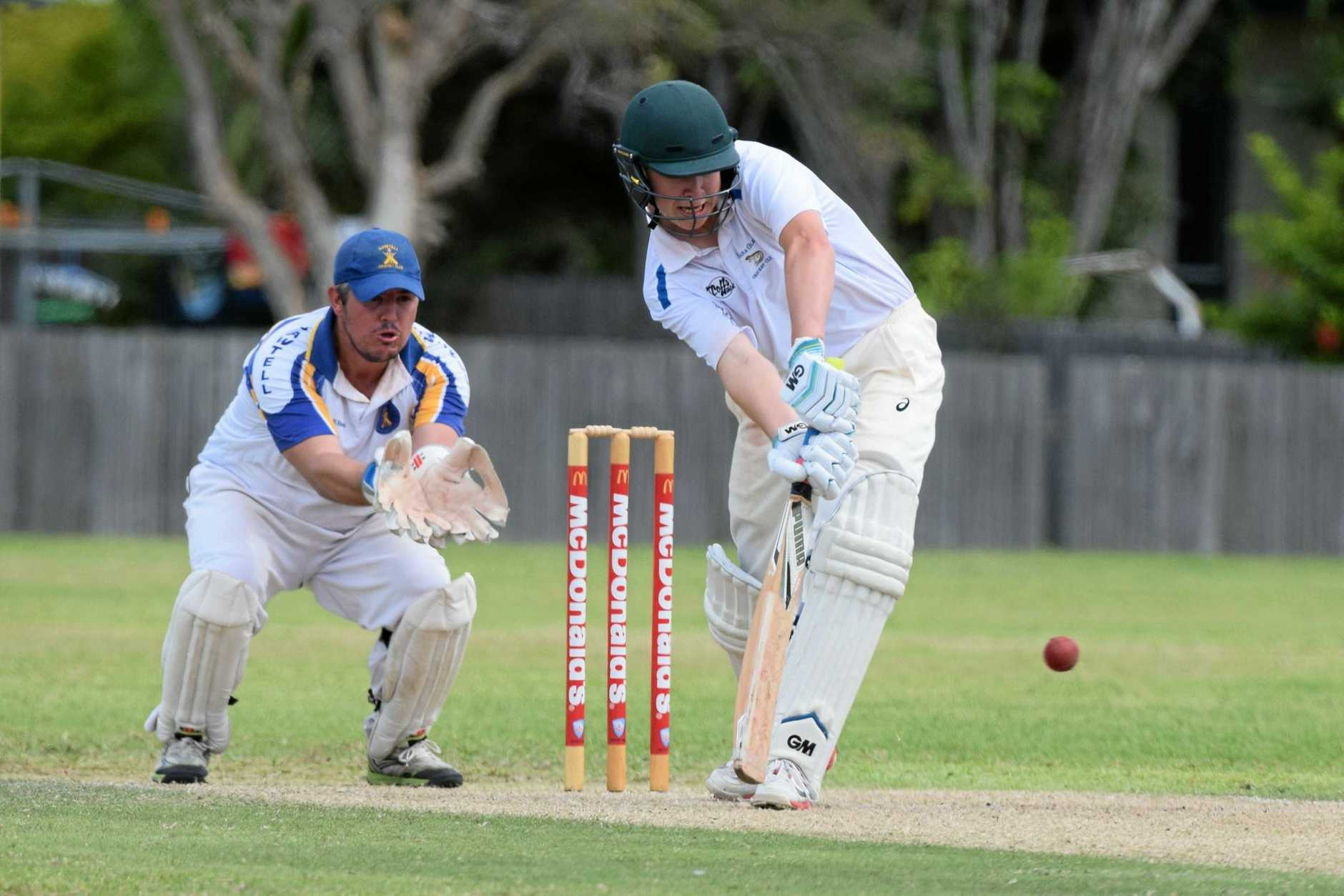 TOP KNOCK: Brodie Bartlett on his way to a century for Nana Glen.