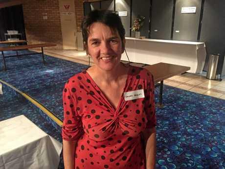 Organiser Sandra Handley at Lismore Women's Festival High Tea..