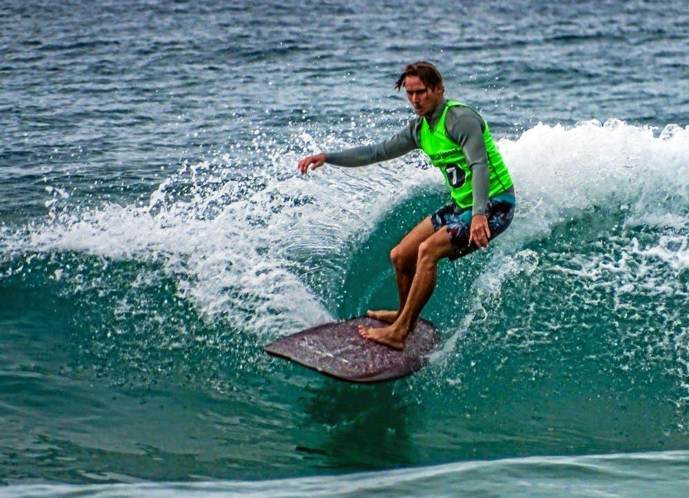 WINNER: Clinton Guest in action at Noosa in 2016.