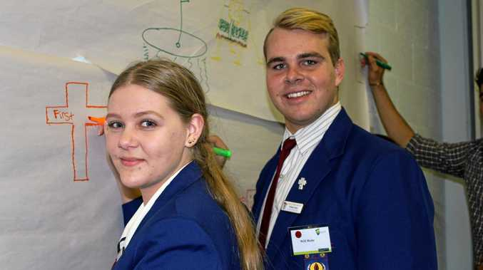 Clair Conway and Will Mohr gave insight into issues affecting Central Highlands youth during the CQUniversity Youth Connect Indaba at the Emerald Campus.