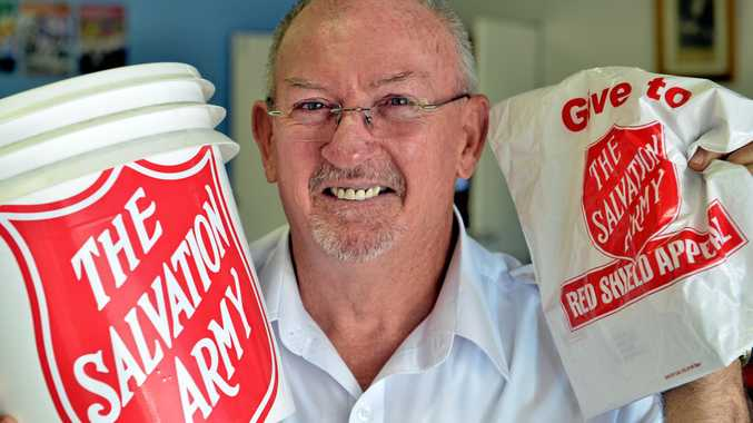 ON THE MARCH: Major Brian Smith and the Salvation Army Gympie will be bringing festivities to their open day, before getting ready for this year's Red Shield Appeal.