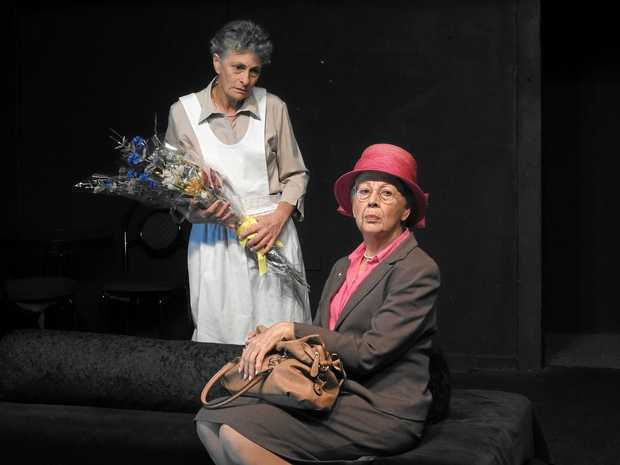 ON STAGE: Vilma Giacomini and Jenny Dowell in LTC's latest production of Hedda Gabler.
