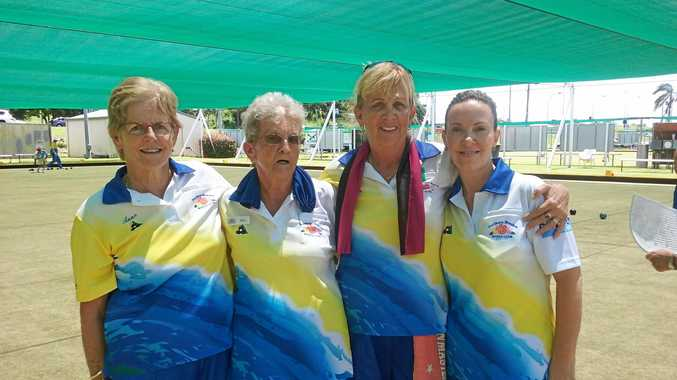 Northern Beaches championship fours winners Anne Smith, Ellen Henderson, Jayne Johnstone and Hannah Alexander