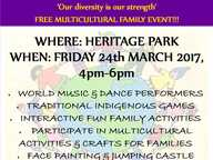 A Harmony Day celebration is taking place on Friday March 24th to celebrate the wonderful diversity of our community.