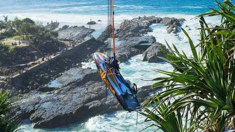 The lifesaver jet ski took a beating.