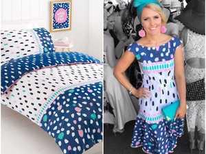 Woman transforms $14 Kmart doona into amazing dress