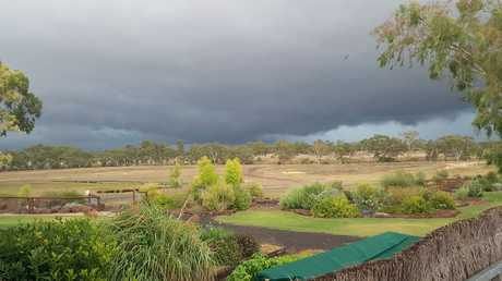 A storm approaches Jondaryan. Photo Andrew Dove‎