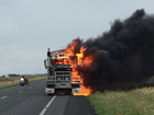 A truck fire caused delays outside of Dalby Queensland for several hours.