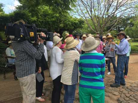 The Gardening Australia crew was a hit with passers-by.