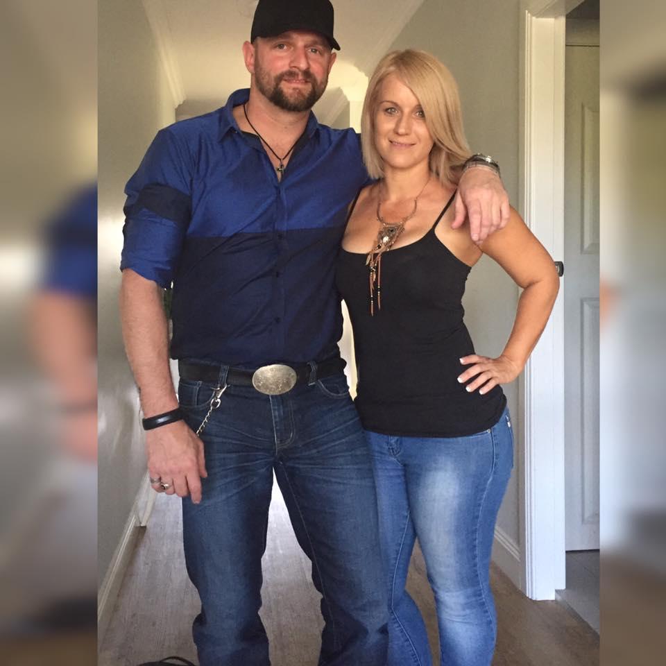 Sammie Milgate with her partner, country music star Luke Dickens.