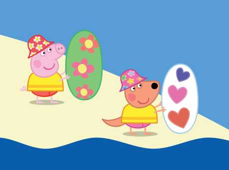 FOR REVIEW AND PREVIEW PURPOSES ONLY. A scene from the movie Peppa Pig My First Cinema Experience: Peppa's Australian Holiday. Supplied by Entertainment One Films.