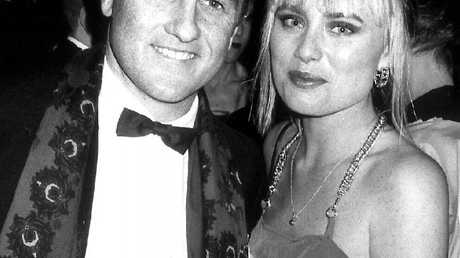 Mark Coulton with then girlfriend, model Robyn Galwey, with whom he had a importing scheme before Ms Galwey died tragically, aged 32, in 1995.Source:News Corp Australia